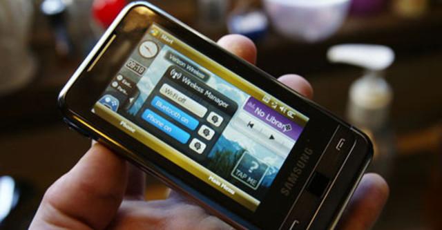 Samsung Omnia Với Màn Hình Cảm Ứng Rộng. Ảnh: Cellphone.