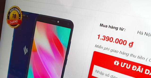 Vsmart продает телефоны 4G по цене 1,4 млн. VND ($60)