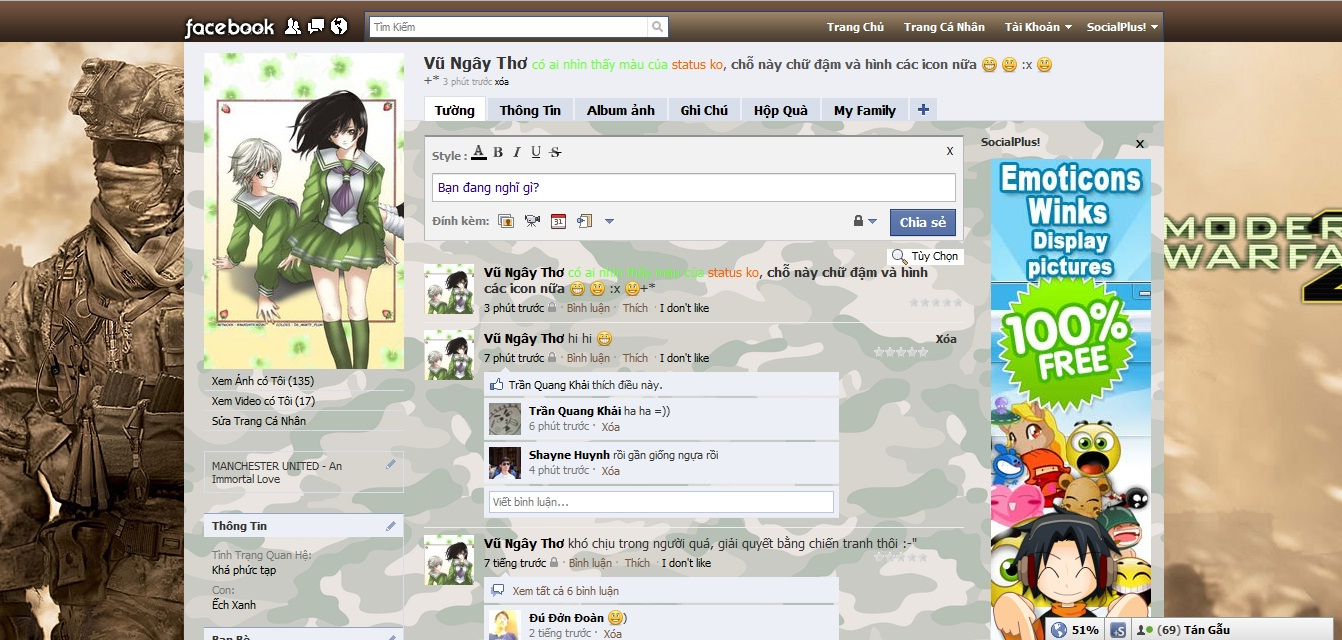 Theme cho facebook